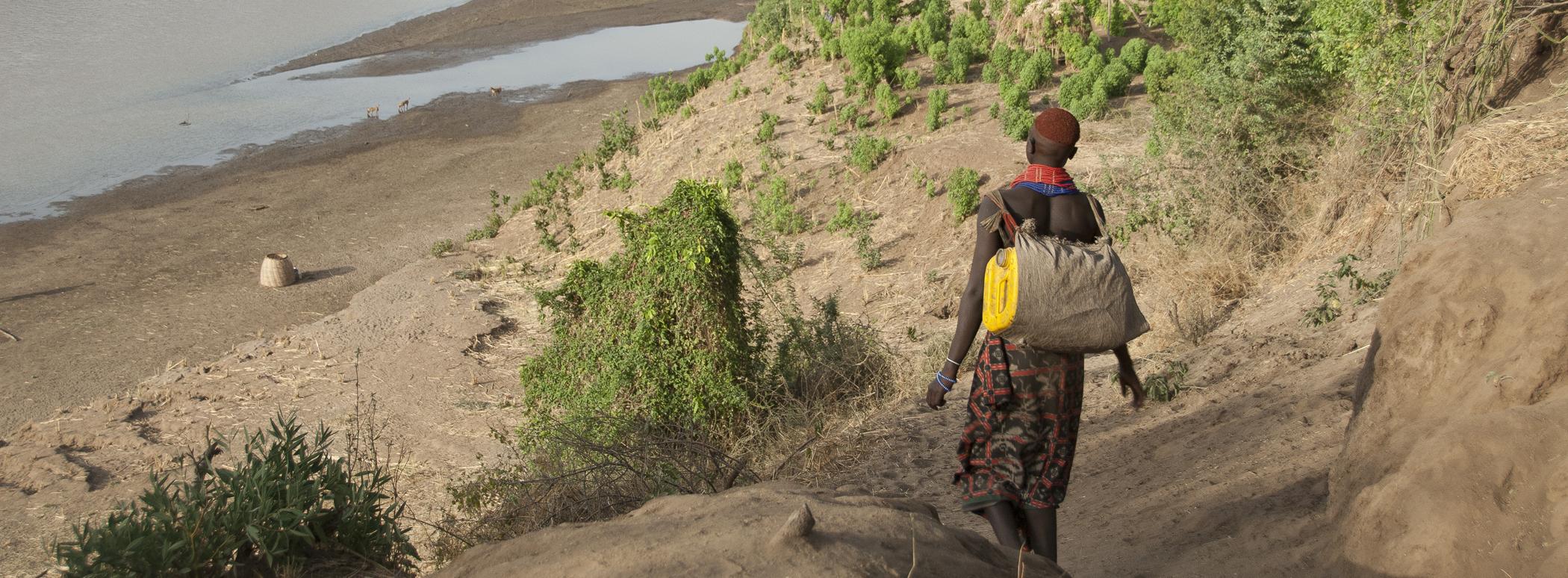 Karo woman down to the River Omo, Colcho, Ethiopia.