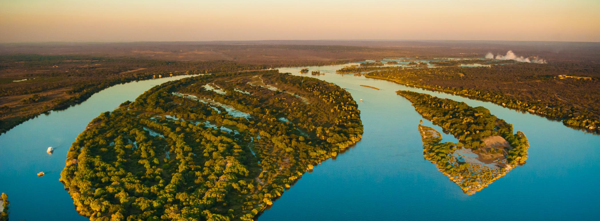Zambezi river from the air